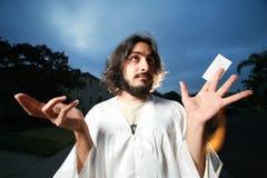 名片耶稣 免版税库存图片