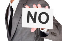 名片表示不说词 免版税库存图片