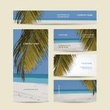 名片设计,热带海岛 免版税库存照片