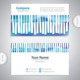 名片-抽象音乐钢琴钥匙 免版税库存图片