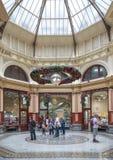 名牌货商店,块拱廊,墨尔本,澳大利亚 免版税图库摄影