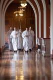 15名神学院的学生的整理对在Mynooth学院的Deaconate 2014年6月1日 免版税库存照片
