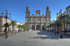 名言・ canaria大教堂gran Las Palmas西班牙st 免版税库存照片