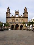 名言黄雀色大教堂全部Las Palmas圣诞老人 免版税库存图片