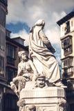 名言・ de plaza圣诞老人 作家佩德罗Calderon de la巴尔卡角雕象  免版税库存图片