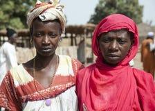 2名非洲妇女画象  免版税库存照片
