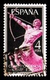 名骑手,明确岗位serie,大约1956年 免版税库存图片