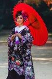 后乐园的日本新娘 免版税库存图片