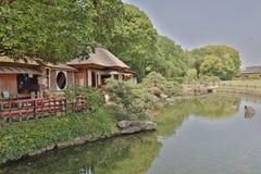 后乐园,日本庭院在冈山,日本 库存图片