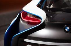 后侧方bmw汽车概念详述远见 免版税图库摄影