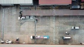 后勤仓库活动在工厂 股票视频