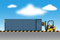 后勤学储藏和装货场,橡胶轮子transportati 图库摄影