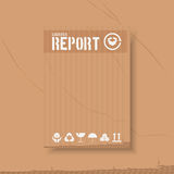 后勤运输事务 飞行物小册子的emplates 年终报告盖子在纸盒箱子背景的摘要样式 向量 库存例证
