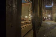 后台在葡萄酒剧院 免版税库存图片