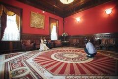 后台婚礼的事件 免版税库存照片