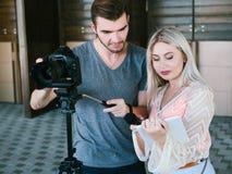 后台摄影专家videoshoot 免版税库存图片