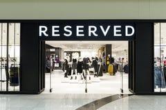 后备的商店在Galeria购物中心 图库摄影