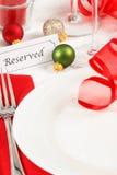 后备的圣诞节表设置 免版税库存照片