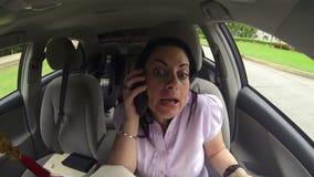 后妇女的任命的电话客户 股票录像