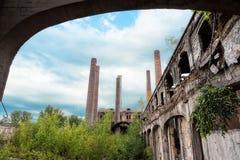 后工业化的大厦 库存照片