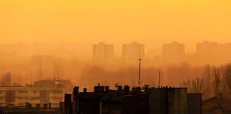 后工业化的都市风景 图库摄影