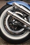 后方摩托车轮胎 免版税库存照片