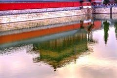 后方门反射Gugong故宫宫殿北京中国 图库摄影