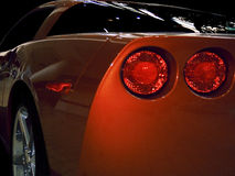 后方sportscar视图 库存照片