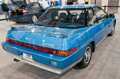 后方viedw -经典Subaru XT 1986年 免版税库存照片