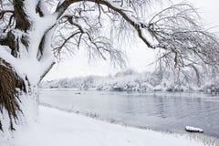 后果风暴冬天 免版税图库摄影