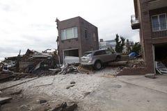 后果飓风桑迪 图库摄影