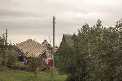 后果龙卷风白俄罗斯 图库摄影