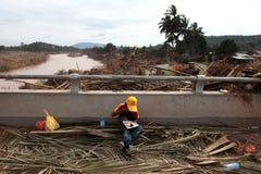 后果洪水 免版税库存照片