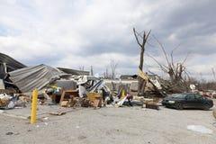 后果henryville印第安纳龙卷风 库存照片