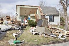 后果henryville印第安纳龙卷风 库存图片