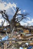 后果henryville印第安纳龙卷风 图库摄影