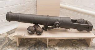 后膛装货大炮 俄罗斯, 17世纪末 免版税库存图片