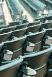 后边体育场就座 免版税库存照片