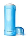 后边蓝色防臭剂容器盖帽 免版税库存照片