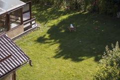 后院在山村 免版税图库摄影