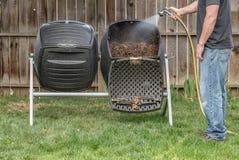后院堆肥 免版税库存照片