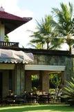 后院大陆巴厘岛的咖啡馆 免版税库存图片