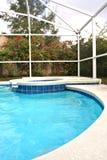 后院池游泳 库存图片