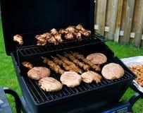 后院烤肉 免版税库存照片