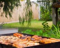 后院烤肉 库存照片