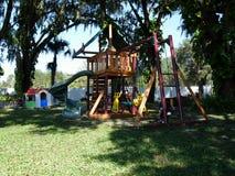 后院玩耍区域 免版税图库摄影