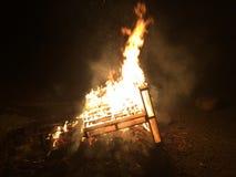后院篝火 库存图片