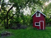 后院红色堡垒 库存照片
