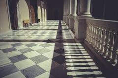 后院,室内宫殿,城堡de托莱多,西班牙 库存照片
