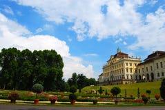 后院ludwigsburg宫殿 库存照片